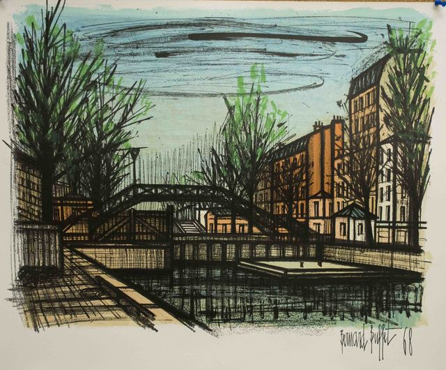 Fantastic Bernard Buffet Canal St Martin 1968 Available For Sale Artsy Download Free Architecture Designs Scobabritishbridgeorg
