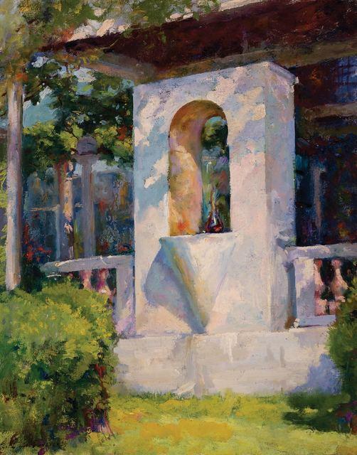 Luigi Lucioni, 'Crystal Fountain and Loggia at Laurelton Hall', 1925, Doyle