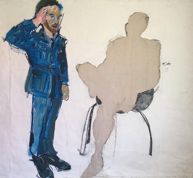 Elizabeth Cope, 'Man Saluting Giraffe Man ', 2006, Maison Depoivre