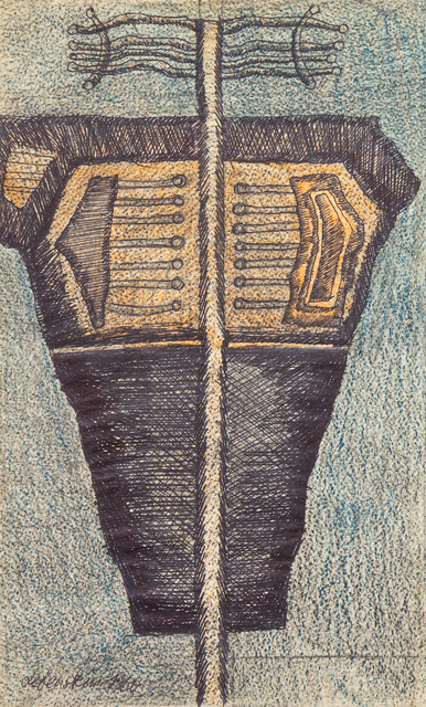 Jan Lebenstein, 'Untitled', 1960, Drawing, Collage or other Work on Paper, Ink and pastel on paper, Hindman