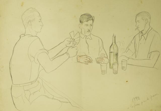 Marie Vorobieff Marevna, 'Men playing cards', 1942, Roseberys