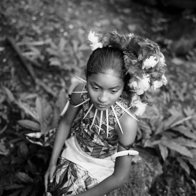 , 'Langi,  Wearing a Siapo (Bark Cloth) Dress, Western Samoa,' 2000, Light Work