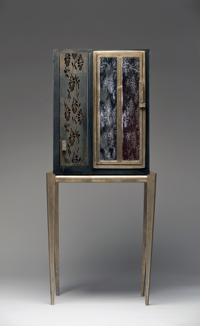 , 'Purple Flowered Steel China Cabinet with the Wind in its Hands,' 2016, Wexler Gallery