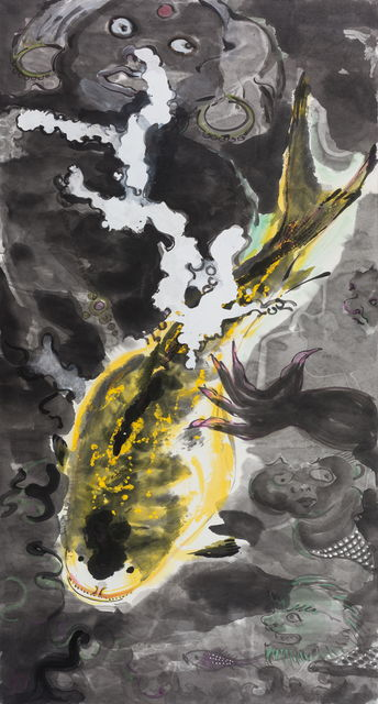 , '金鱼戏墨池Goldfish Playing inInk Pond,' 2016-2017, Aye Gallery
