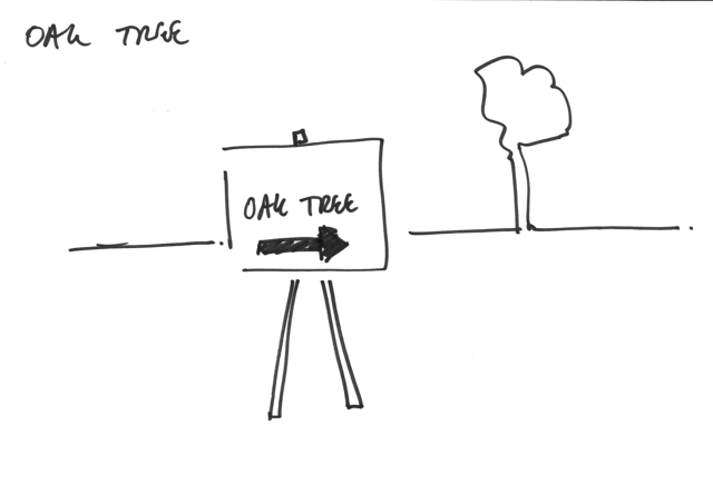 , 'OAK TREE - Erdkunde Working drawing,' 2015, Carroll / Fletcher