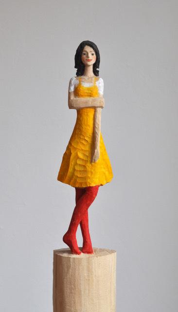 , 'Yellow Dress (detail),' 2018, Alan Kluckow Fine Art