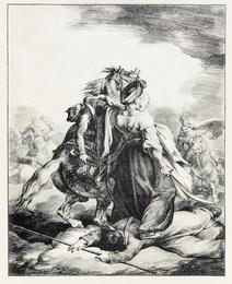 Mameluck Défendant un Trompette Blessé.
