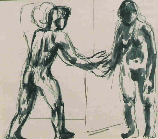 Keith Vaughan, 'Two Standing Figures', Cyril Gerber Fine Art/ Compass Gallery
