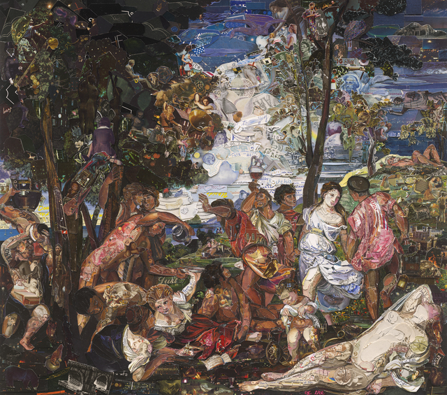 Vik Muniz, 'The Prado Museum, Bacchanal of the Andrians, after Titian (Gift Shop Series)', 2015, Ben Brown Fine Arts