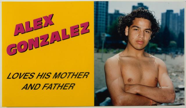 Ken Lum, 'Alex Gonzalez Loves his Mother and Father', 1989, Hirshhorn Museum and Sculpture Garden