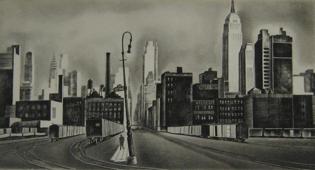 Howard N. Cook, 'West Side, New York', 1931, Print, Etching and aquatint, Paramour Fine Arts