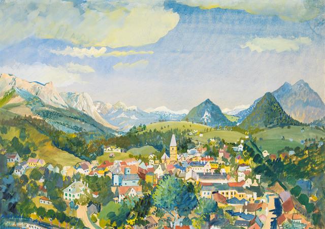 , 'Sight of Bad Aussee,' 1932, Galerie Kovacek & Zetter
