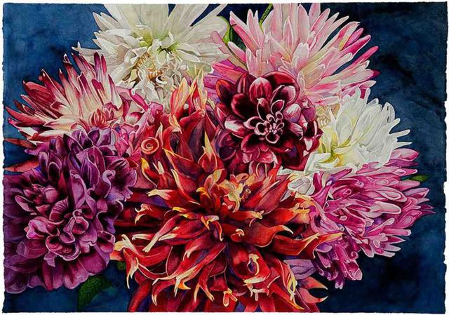, 'Dahlia Fireworks,' 2018, Wally Workman Gallery