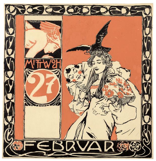 , 'Calendar sheet: Wednesday, February, 27,' 1901, Galerie Kovacek & Zetter