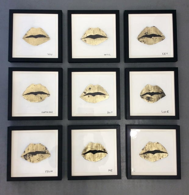 , 'Nothing But Love (Lips x 9),' 2015, Lawrence Alkin Gallery