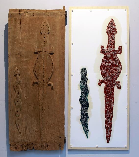 , 'Retable avec la porte de case Dogon,' 2014, Galerie Nathalie Obadia