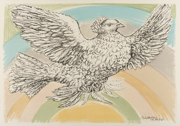 Pablo Picasso, 'Colombe Volant ( l'Arc-en-ciel) (Bloch 172; Mourlot 214) ,' 1952, Forum Auctions: Editions and Works on Paper (March 2017)