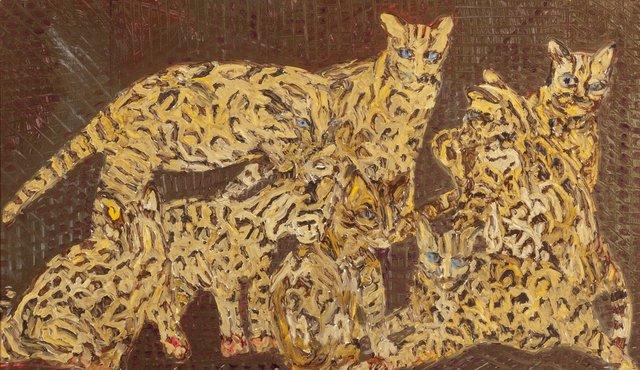 Hunt Slonem, 'Untitled (Lions)', 1990, Heritage Auctions