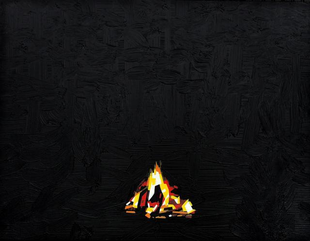 , 'Campfire 28 May 22:53,' 2018, Galerie Sandhofer