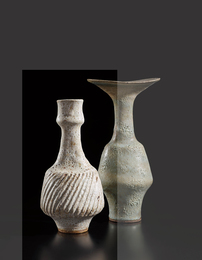 Vase with fluted body