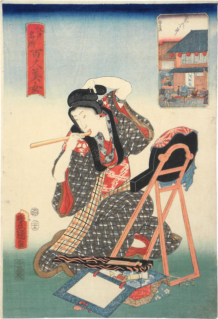 , 'One Hundred Beauties from Famous Places in Edo: Hanakawado,' 1857, Scholten Japanese Art