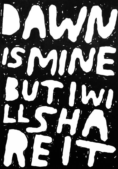 , 'Dawn Is Mine,' 2014, Ruttkowski;68