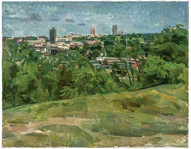 Wilbur Niewald, 'View of Roundhouse from Cambridge Circle I', 2013, Painting, Oil on canvas, Haw Contemporary