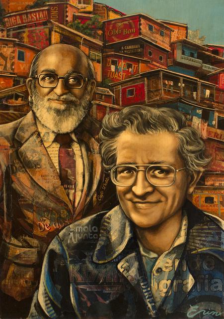 Erin Currier, 'Noam Chomsky & Paolo Freire', Blue Rain Gallery