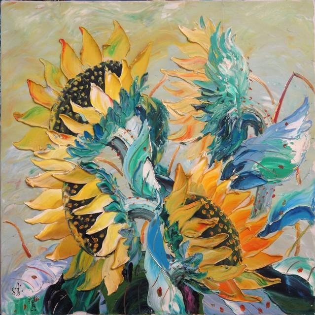 , 'Sunflowers,' 2009, A-Art Shengzan Gallery