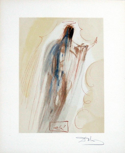 Salvador Dalí, 'Paradise Canto 29: Th4e Creation of Angels from The Divine Comedy', 1960, Print, Woodblock on paper, New River Fine Art