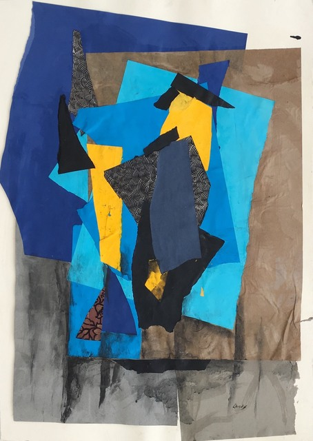 Leonard Brooks, 'Untitled', no date, Drawing, Collage or other Work on Paper, Collage on paper, Rumi Galleries