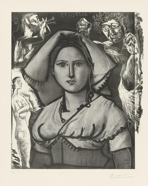 Pablo Picasso, 'L'Italienne (d'après le tableau de Victor Orsel)', 1953, John Szoke