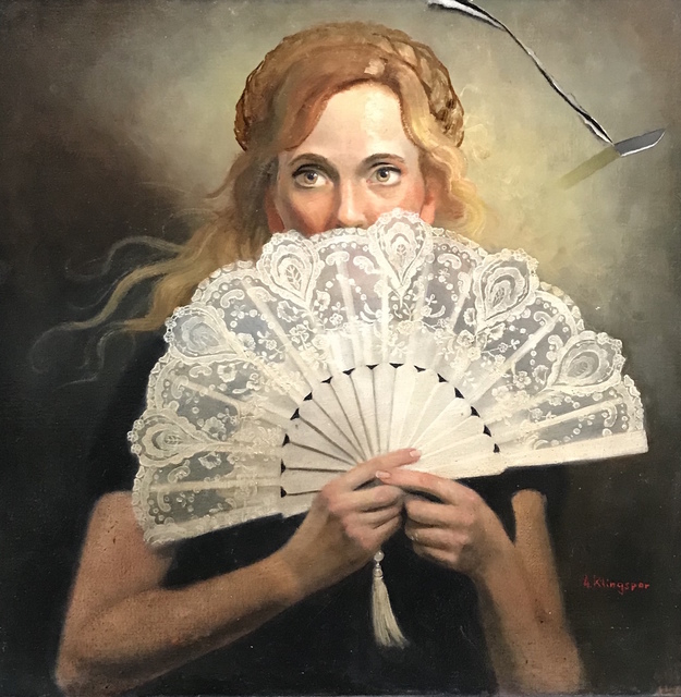 , 'Woman with Fan,' 2018, RJD Gallery