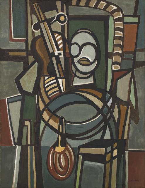 , 'O VIOLONCELISTA,' 1951, Dan Galeria