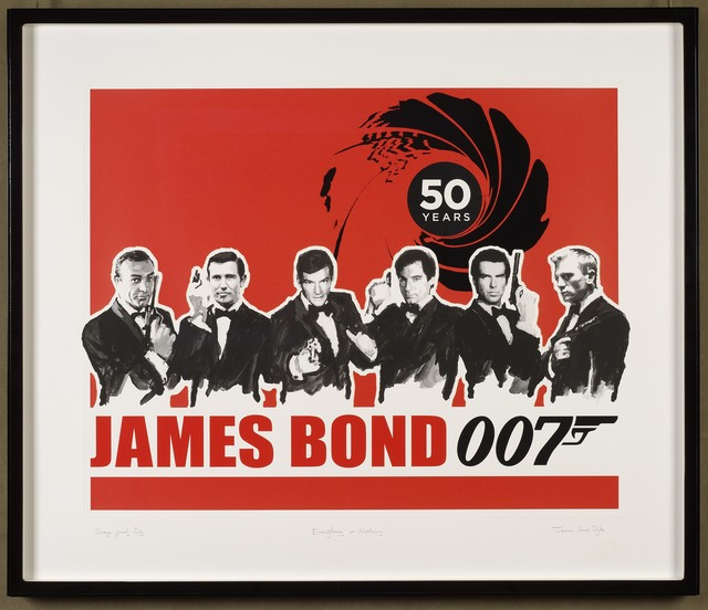 , 'Everything or Nothing – 50 Years of James Bond: Red,' 2012, DELAHUNTY