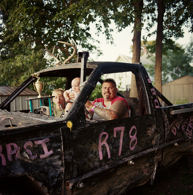 , 'Dan, Dalton, and Keeghan in the Demolition Derby Truck,' 2012, Postmasters Gallery