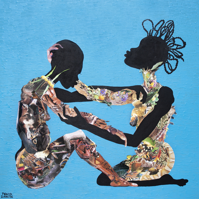 Penda Diakité, 'Teri-Mussow (a woman's friendship)', 2021, Painting, Acrylic, collage, resin finish on wood panel, Band of Vices