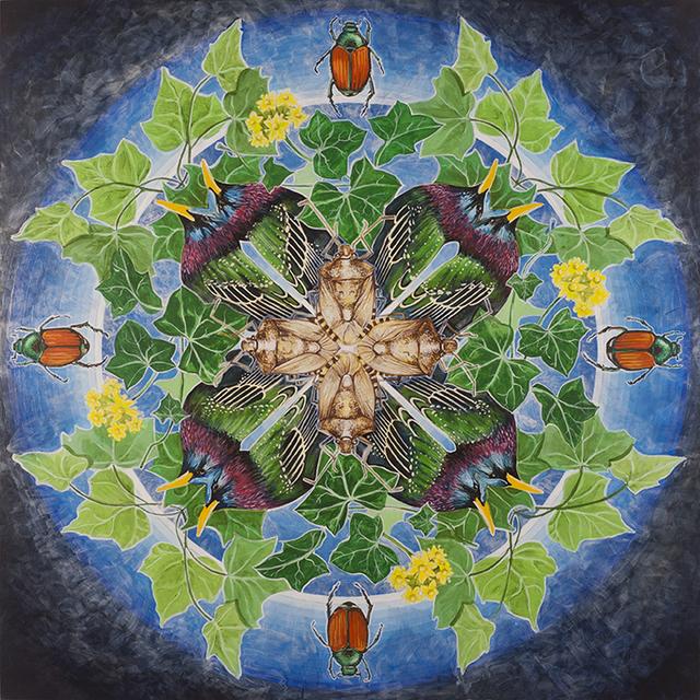 , 'European Starling, Japanese Beetle, Stink Bug, Ivy,' 2018, Linda Hodges Gallery