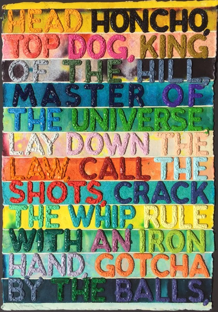 Mel Bochner, 'Head Honcho ', 2012, Denis Bloch Fine Art