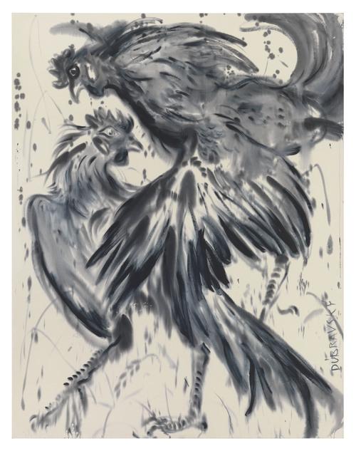 , 'Rooster couple (black),' 2017, DITTRICH & SCHLECHTRIEM
