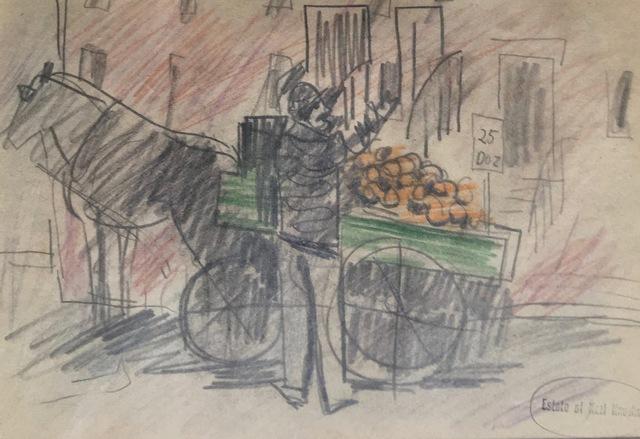 , 'Fruit Peddler,' 1922, Bakker Gallery