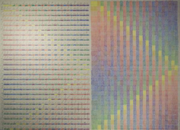 , 'Alphabet Colors,' 2018, David Barnett Gallery
