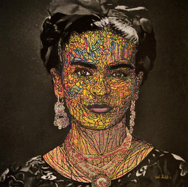 Ariel Shallit, 'Frida Kahlo #2', 2015, Mixed Media, Hand-painted archival digital print on canvas, Dru Arstark Fine Art