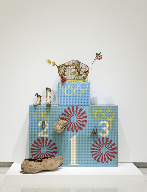 , 'Olympic Winners Platform (Pollution Olympics - Pollution Game - L'art pressentiment),' 1970-1972, Walker Art Center