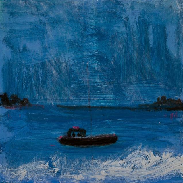 , 'boat in blue,' 2017, Sears-Peyton Gallery