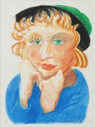 David Hockney, 'Celia with Green Hat', 1984, Vertu Fine Art