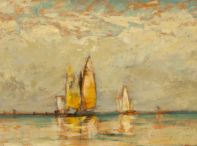 William Gedney Bunce, 'Venice Sail Reflections', 1885, Private Collection, NY
