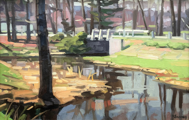 , 'Hadley Creek,' 2019, William Baczek Fine Arts