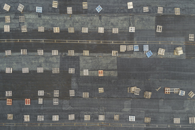 Peter Margonelli, 'Pallets and Tarps', 2017, ArtSuite New York