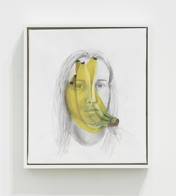 Haley Mellin, 'Banana Self Portrait', 2019, Painting, Oil, ink, gesso and medium on canvas, Diane Rosenstein